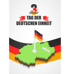 German unity day concept background isometric vector