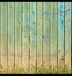 Grass and planks background vector