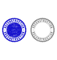 Grunge reconstruction scratched stamps vector