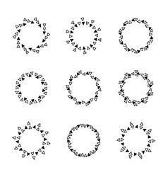 Hand drawn circle frames vector