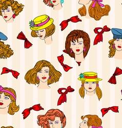 hand-drawn fashion models vector image vector image