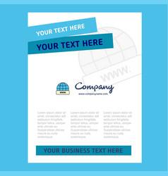 internet title page design for company profile vector image