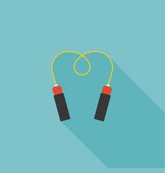 Jump rope icon for skipping and exercise vector