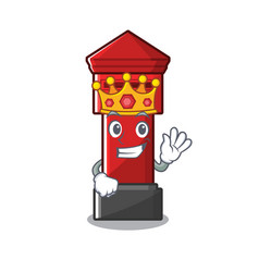 King pillar box on a cartoon highway vector