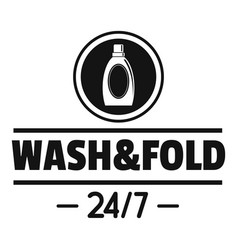 Laundry wash and fold logo simple style vector