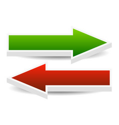 Left and right arrows vector