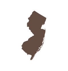 map us state new jersey vector image