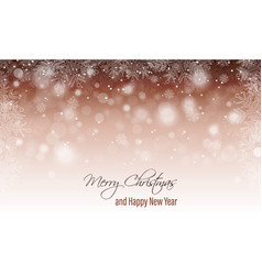Merry christmas greeting card happy new year vector