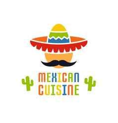 mexican cuisine logo template isolated vector image