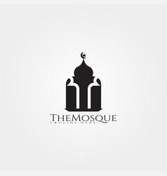 Mosque icon template islamic center vector