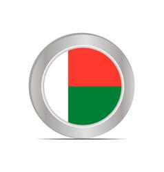 National flag republic madagascar vector