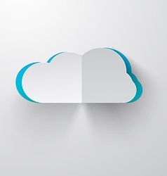 Paper Cut Cloud vector image