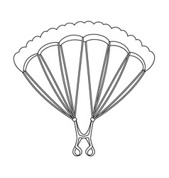 Parachutingextreme sport single icon in outline vector