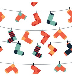 Pattern of socks vector