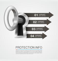 protection info art key banner vector image