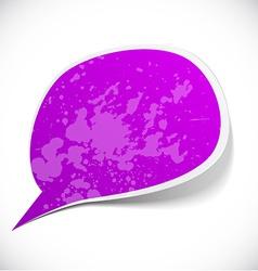 Purple grunge speech label design vector