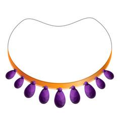 purple necklace icon cartoon style vector image