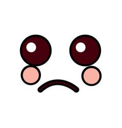 sad face emoji icon image vector image