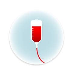 Saline IV drip bag medical icon vector