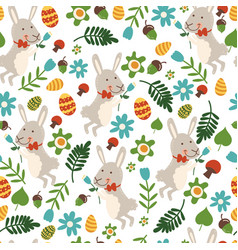 seamless pattern for easter theme with cute vector image
