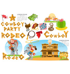 set of of on the theme of the wild west clothing vector image