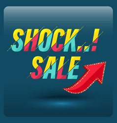 shock sale with red arrow vector image