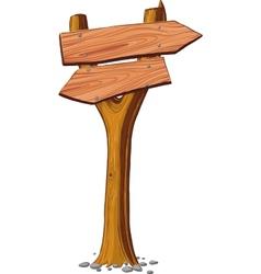 signboard nailed tree vector image