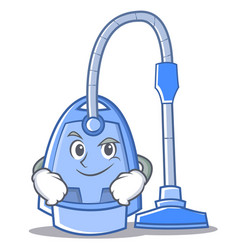 Smirking vacuum cleaner character cartoon vector