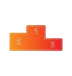 Sofa sign Flat style icon Orange vector