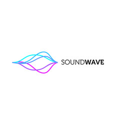 sound wave colorful logo design vector image