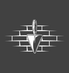 spatulas located on a brick wall vector image
