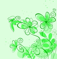 spring abstract floral vector image