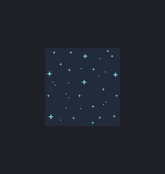 Starry night computer symbol vector image