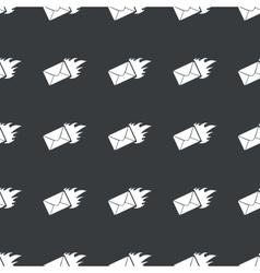 Straight black burning letter pattern vector