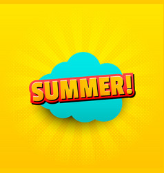 summer comic shiny concept vector image
