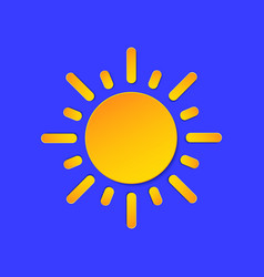 sunny day weather forecast info icon yellow sun vector image