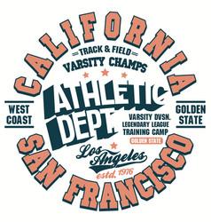 t-shirt print shirt graphic design california vector image