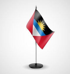 Table flag of Antigua and Barbuda vector