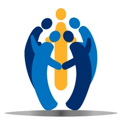 Teamwork social people vector image