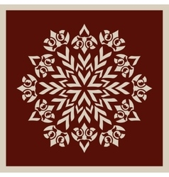 Template mandala pattern for decorative rosette vector image