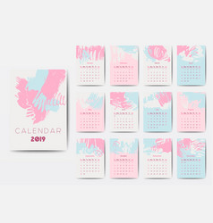 The 2018 calendar template vector