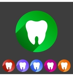 tooth icon flat web sign symbol logo label vector image