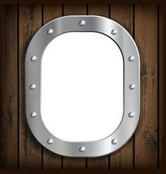 window ship porthole with white background vector image