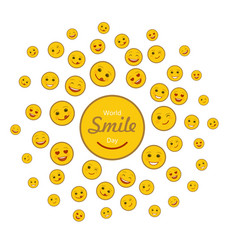 world smile day holiday concept vector image