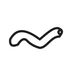Worm vector image