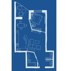 Architecture blueprint plan vector
