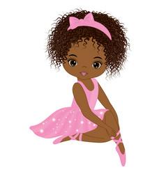 cute little african american ballerina vector image vector image