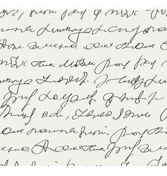 handwritten text vector image vector image