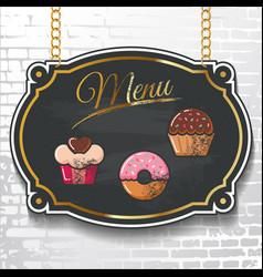 set design elements chalkboard menu sample vector image vector image