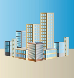 Shimmering Cityscape vector image vector image